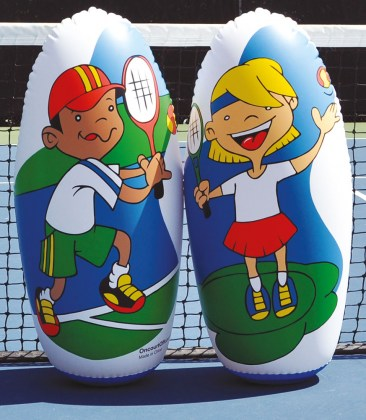 Mini-Tennis Knockdowns - Set da 2 bersagli
