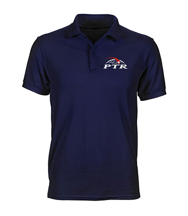 Polo navy con logo PTR