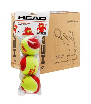 HEAD T.I.P. red – Cartone da 16 conf. da 3 palle